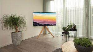 Cavus Triangle houten tripod tv standaard